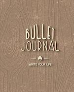 Bullet Journal Dotted Grid Dated Notebook, Dark Wooden Classic