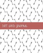 Dot Grid Bullet Journal, Dated Notebook Diary, Minimalist Tribal Arrow Doodle Black and White