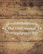 Dot Grid Bullet Journal, Daily Dated Notebook Diary, Rustic Wooden
