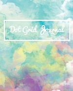 Dot Grid Bullet Journal, Daily Dated Notebook Diary, Cute Colorful Blue Green Watercolor Art