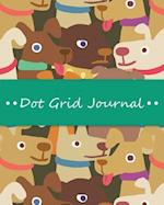 Dot Grid Bullet Journal, Daily Dated Notebook Diary, Dog Lovers Pattern