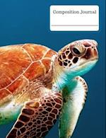 Composition Journal - Sea Turtle Swimming (Wide Ruled)