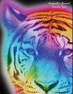 Composition Journal Rainbow Tiger (Black)