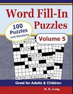 Word Fill-In Puzzles, Volume 5