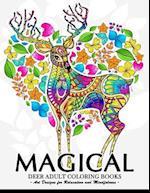 Magical Deer Adults Coloring Book