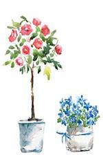 Flower Pots Blank Notebook Journal