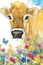 Flower and Cow Notebook