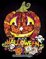 Black Halloween Coloring Book