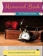 Memorial Book for Funeral Guest