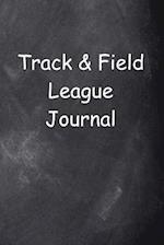 Track & Field League Journal Chalkboard Design