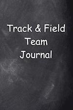Track & Field Team Journal Chalkboard Design