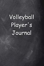 Volleyball Player's Journal Chalkboard Design