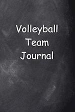 Volleyball Team Journal Chalkboard Design