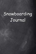 Snowboarding Journal Chalkboard Design