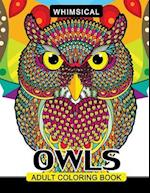 Whimsical Owls Adults Coloring Book