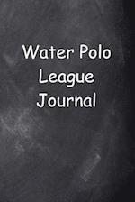 Water Polo League Journal Chalkboard Design