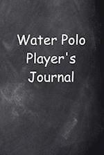 Water Polo Player's Journal Chalkboard Design