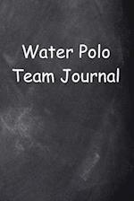 Water Polo Team Journal Chalkboard Design