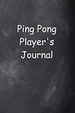 Ping Pong Player's Journal Chalkboard Design