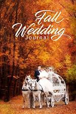 Fall Wedding Journal Horse Carriage Bride Groom Autumn Foliage