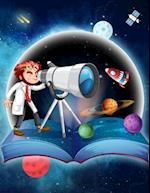 Primary Composition Notebook Journal for School Kids, Students and Teachers - Space Astronomy