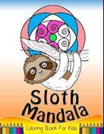 Sloth Mandala Coloring Book for Kids