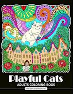 Playful Cat Coloring Book for Adults