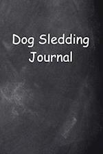 Dog Sledding Journal Chalkboard Design