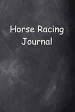 Horse Racing Journal Chalkboard Design