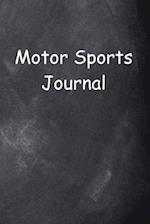 Motor Sports Journal Chalkboard Design