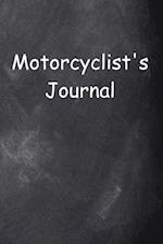 Motorcyclist's Journal Chalkboard Design