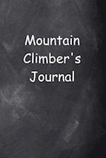 Mountain Climber's Journal Chalkboard Design