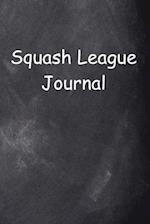 Squash League Journal Chalkboard Design