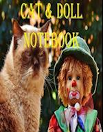 Cat and Doll Notebook