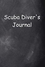 Scuba Diver's Journal Chalkboard Design