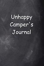 Unhappy Camper's Journal Chalkboard Design