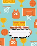 Handwriting Primary Composition Notebook, 8 X 10 Inch 200 Page, Basketball Orange Softcover