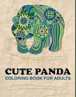 Cute Panda Coloring Book for Adults