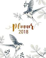 Planner 2018, Academic Year Calendar with Weekly Planners Daily To-Do Lists and Notes, Passion/Goal Setting Organizer, Large Letter Size 8x10