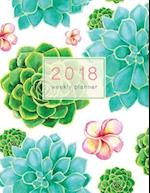 Succulent 2018 Weekly Planner