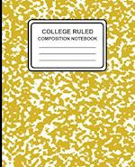 College Ruled Composition Notebook