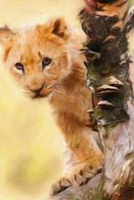 Lion Cub - Lined Notebook with Margins