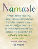 Namaste, Line Ruled Inspirational Buddha Quote Journal Notebook, 8.5x11 In, 110 Undated Pages