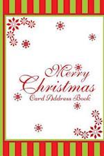 Merry Christmas Card Address Book