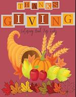Coloring Book for Kids ( Thanksgiving and Fall Theme )