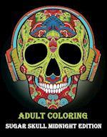 Adult Coloring Sugar Skull Midnight Edition
