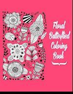 Floral Butterflies Coloring Book
