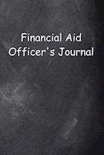 Financial Aid Officer's Journal Chalkboard Design