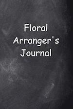 Floral Arranger's Journal Chalkboard Design