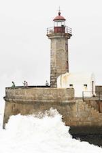 Lighthouse and Crashing Waves